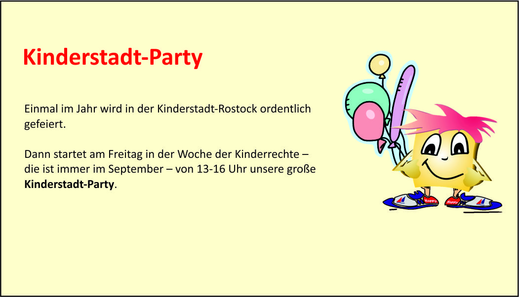 Kinderstadt-party