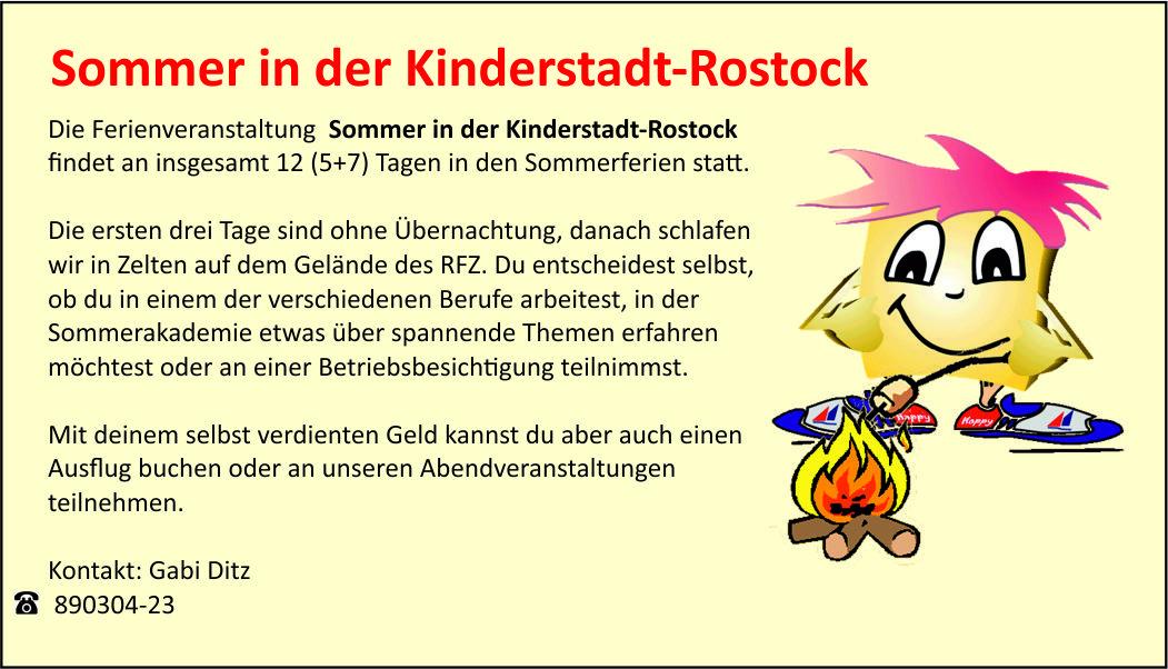 Sommer in der Kinderstadt-Rostock