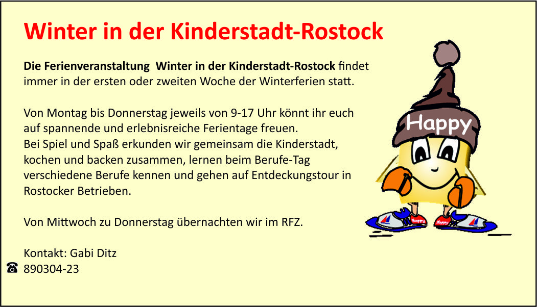 Winter in der Kinderstadt-Rostock